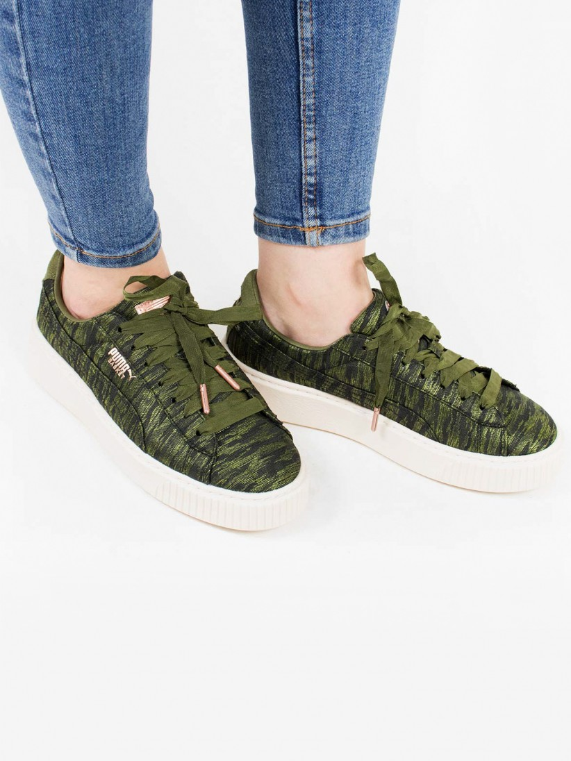 most fashionable top-rated authentic 100% quality Puma Basket Platform Velvet Rope Shoes