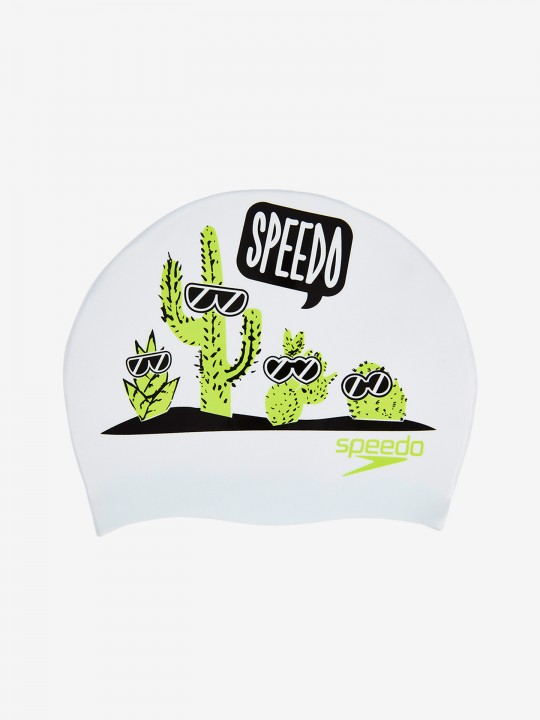 Speedo Slogan Print Swimming Cap