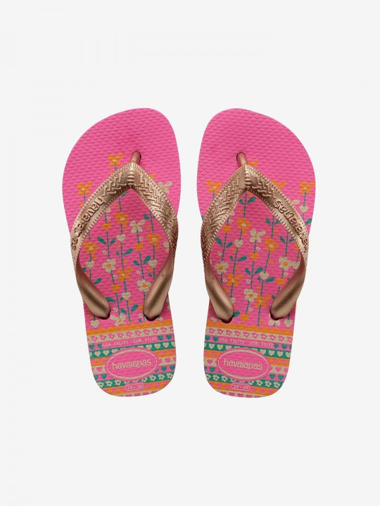 Chinelos Havaianas Kids Flores