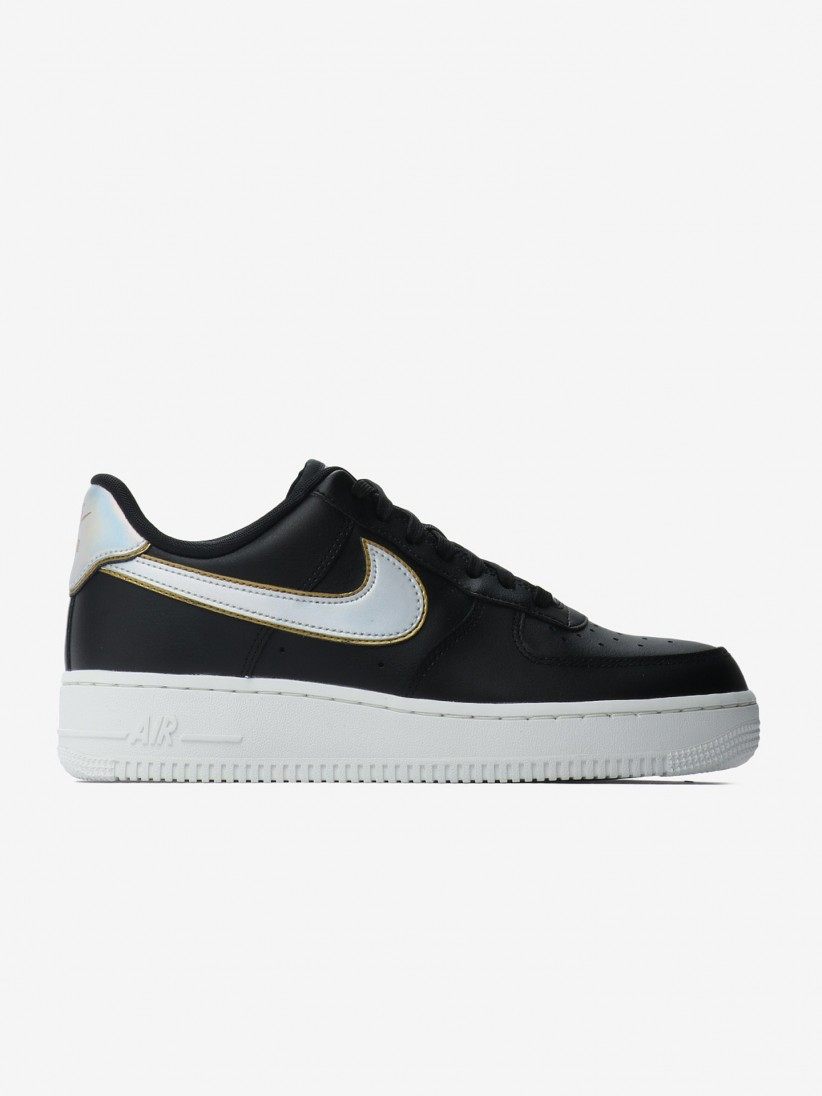 france nike air force 1 negro and oro custom made 41a00 1d308