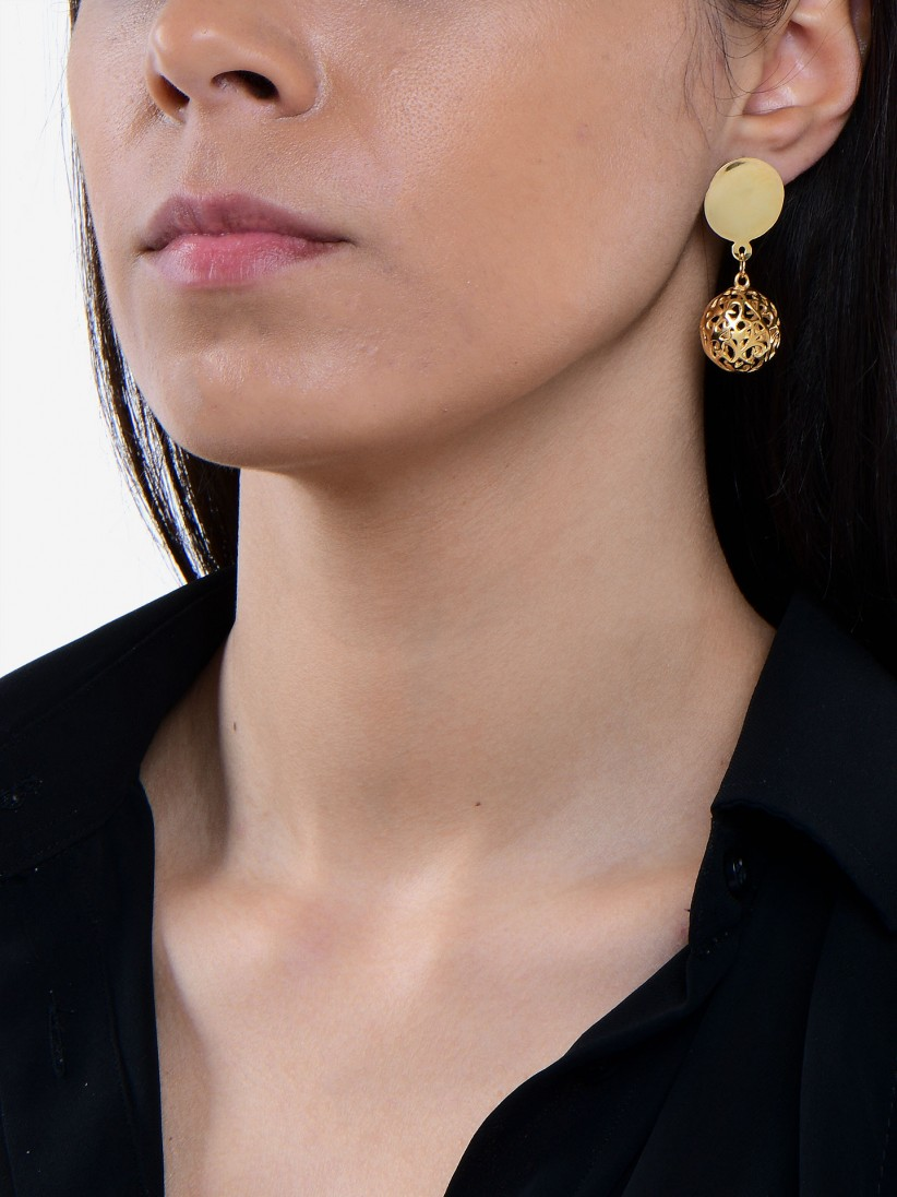 Bon Genie Golden Silver Earrings