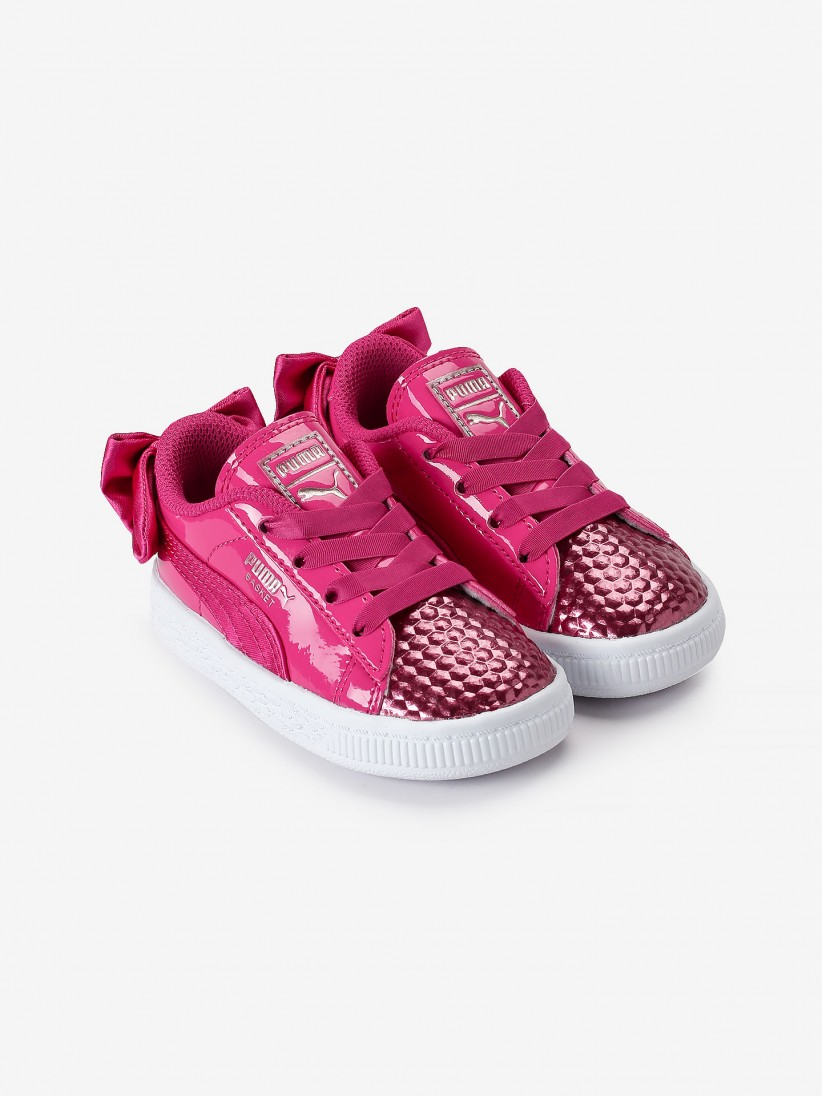 reputable site 07ab4 d4262 Puma Basket Bow Coate Glam Sneakers