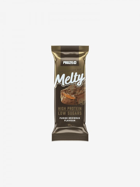 Prozis Melty 60g - Low Sugar Protein Bar - Fudge Brownie