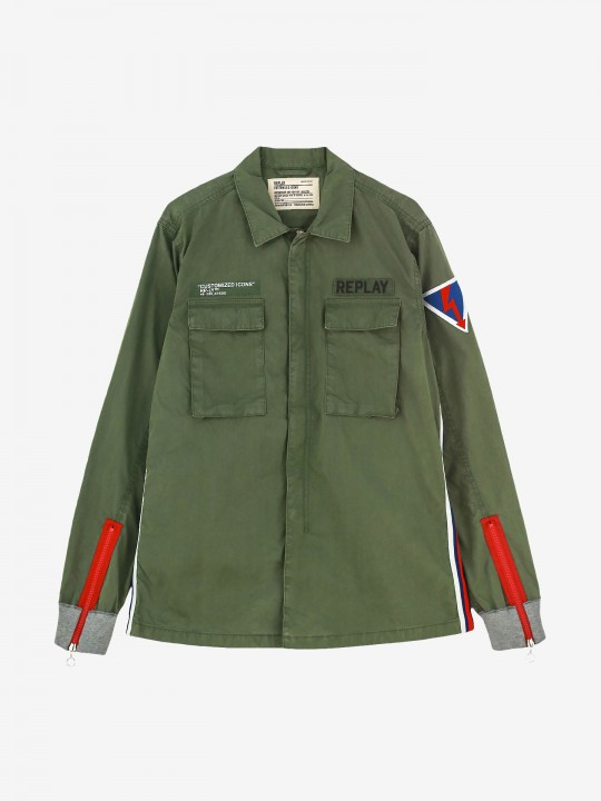 Replay Contrasting Patch Jacket