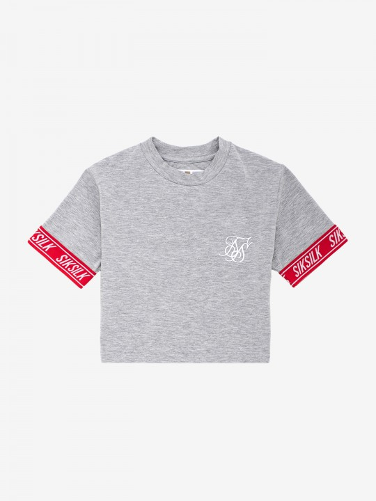 T-Shirt Siksilk Elastic Cuff Crop