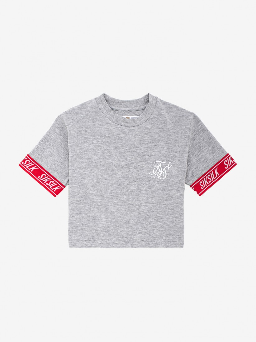 Siksilk Elastic Cuff Crop T-Shirt