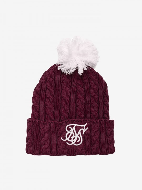 Gorro Siksilk Cable Bobble
