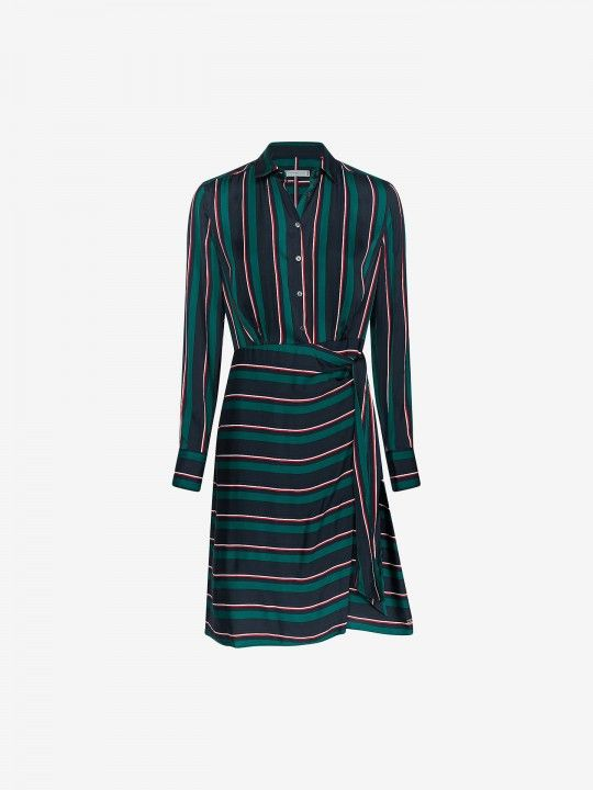 Vestido Tommy Hilfiger Long Sleeve Stripes