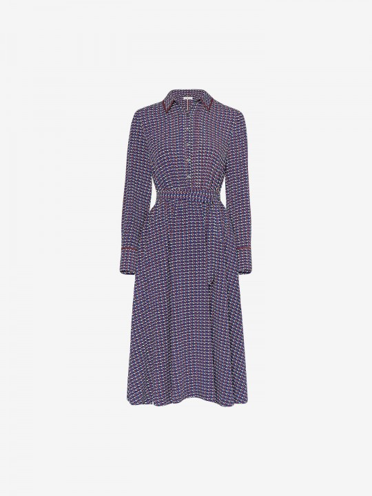 Vestido Tommy Hilfiger Long Sleeve Monogram