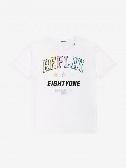 T-Shirt Replay Multicoloured Writing