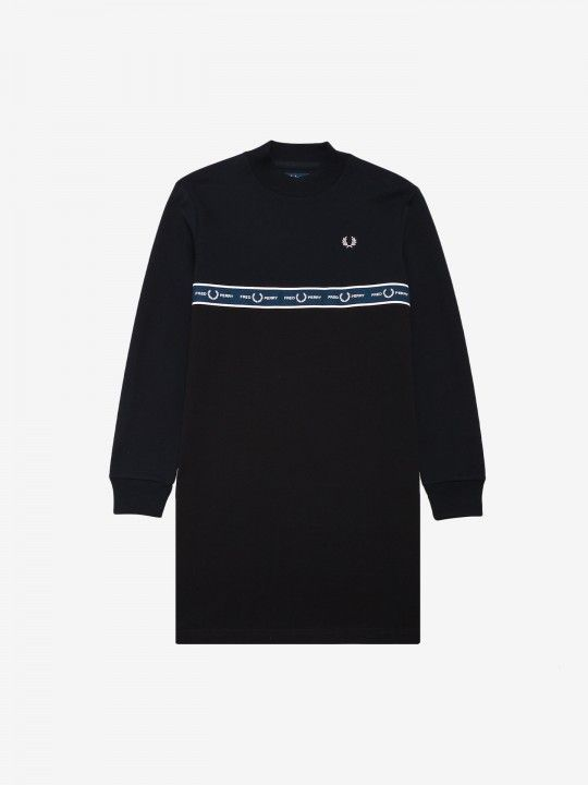 Fred Perry Taped Sweatshirt Dress