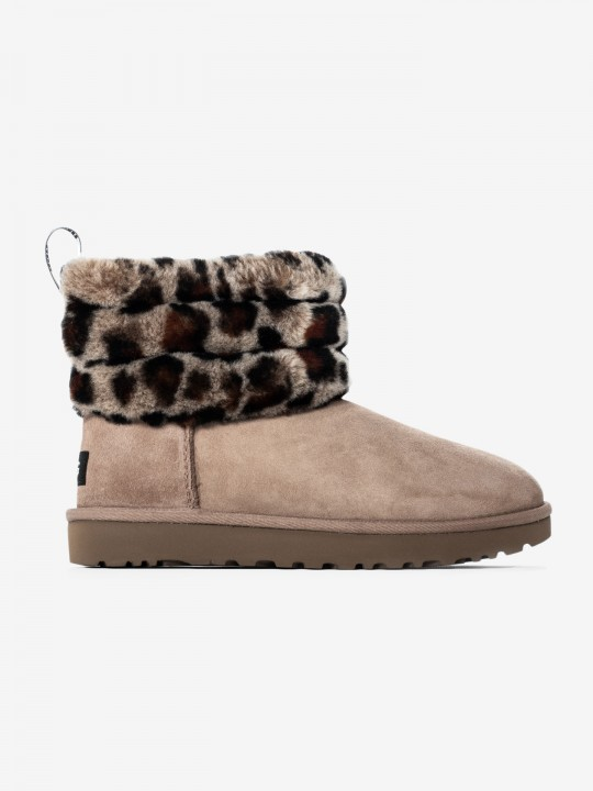 Ugg Fluff Quilted Leopard Boots