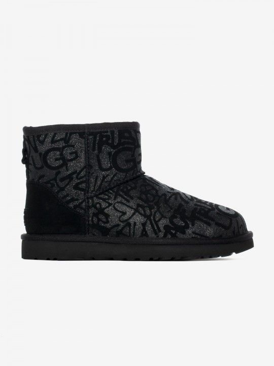 Ugg Classic Mini Sparkle Graffiti Boots