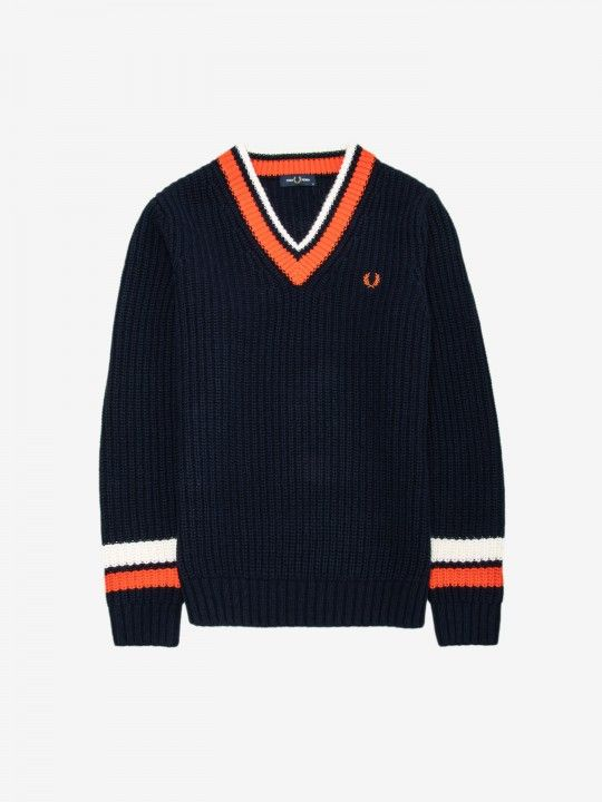 Fred Perry Bold Tipped V-Neck Sweater