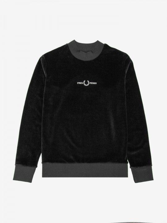 Fred Perry Embroidered Velour Sweater