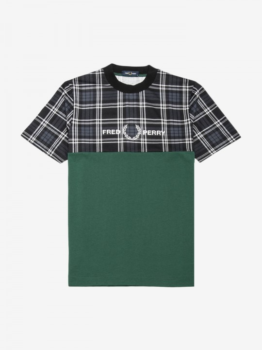 T-Shirt Fred Perry Tartan Panel