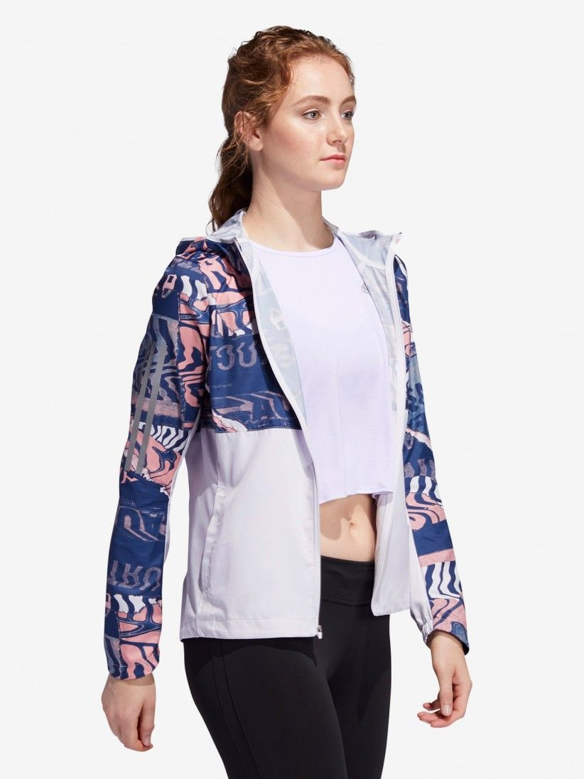 Adidas City Clash Own The Run Graphic Jacket