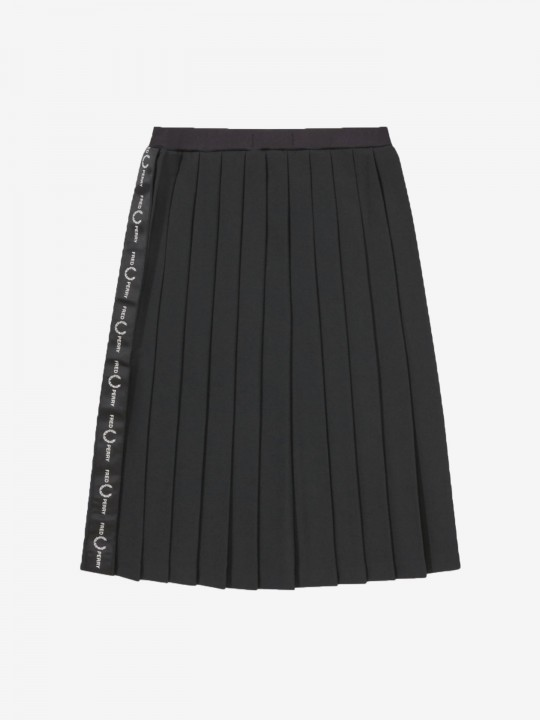Fred Perry Taped Pleated Tennis Skirt