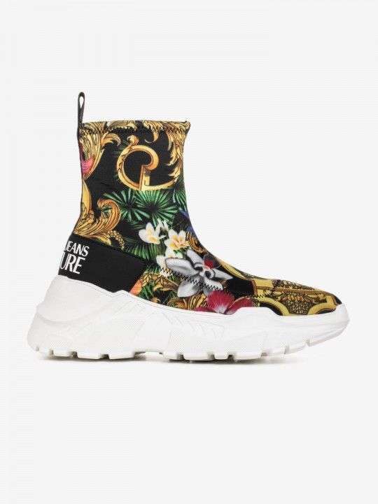 Versace Baroque Print High Sneakers