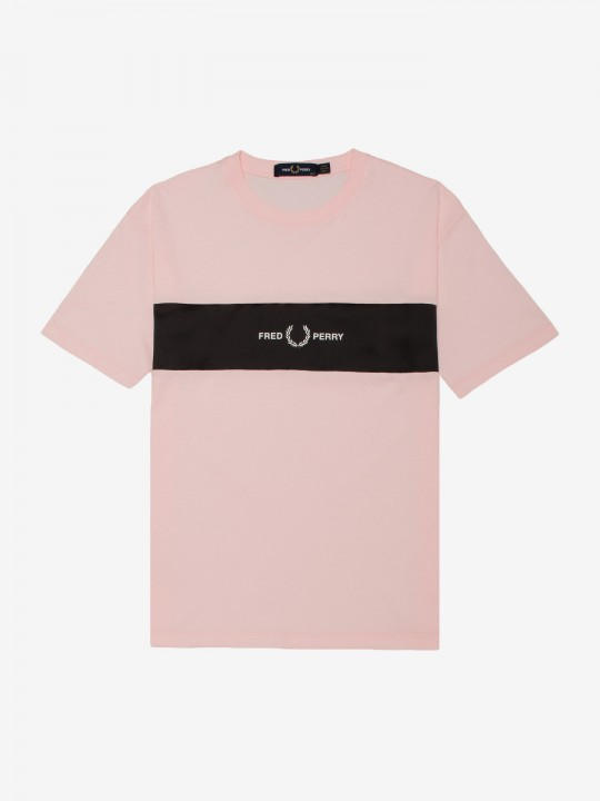Fred Perry Printed Panel T-Shirt