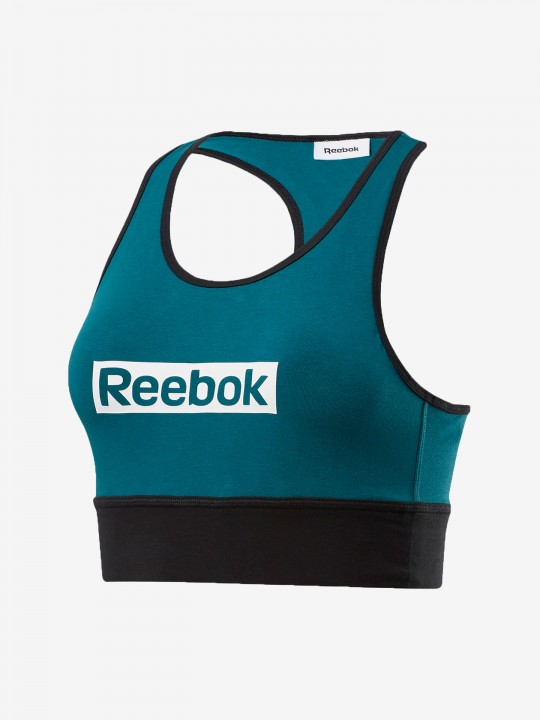 TOP REEBOK TRAINING ESSENTIALS LINEAR LOGO
