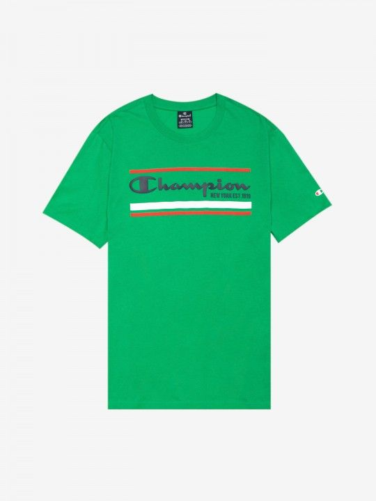 Champion Striped Logo T-shirt