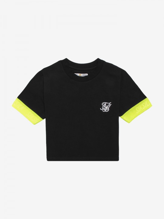 Siksilk Neon Tape Crop T-Shirt