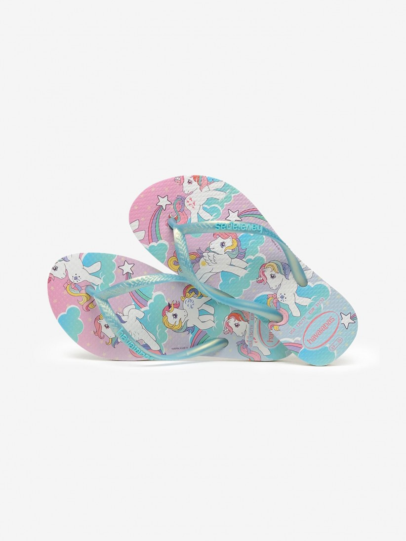 Chinelos Havaianas Kids Slim My Little Pony