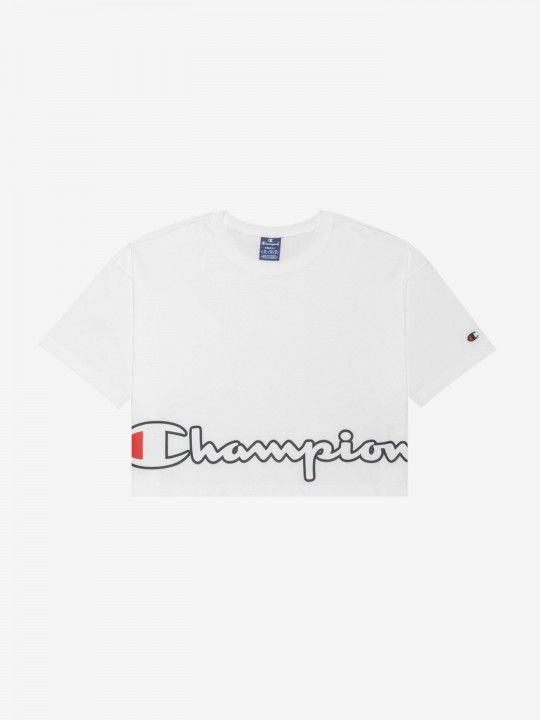 Camiseta Champion Cropped Script Logo