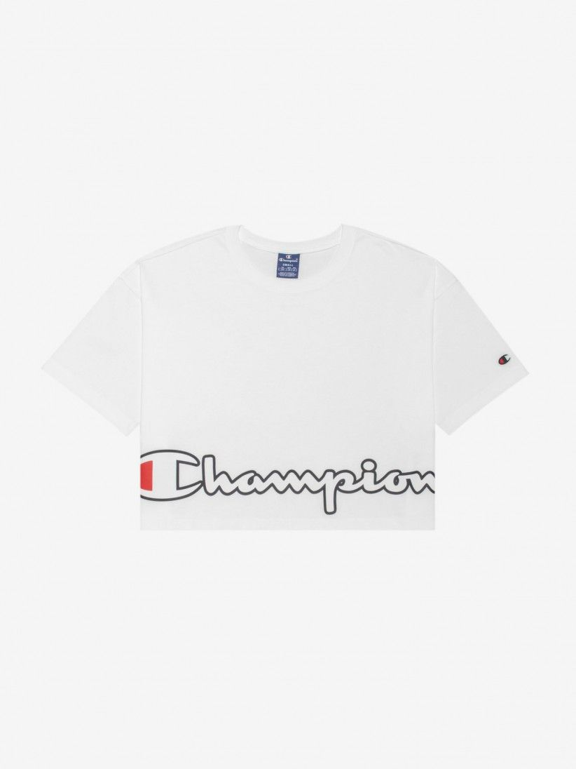 Champion Cropped Script Logo T-shirt