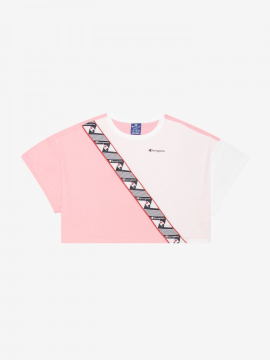 Camiseta Champion Colour Block Jacquard Logo