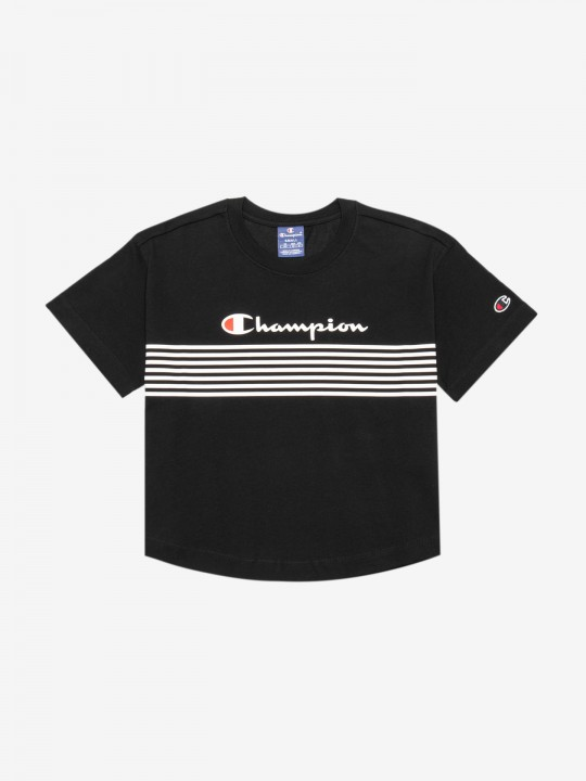 Champion Script Logo Stripe T-shirt