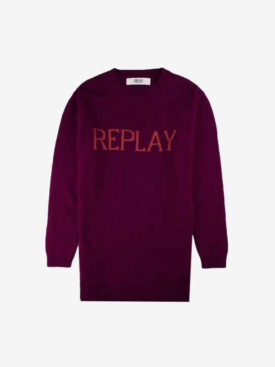 Camisola Replay Crew Logo