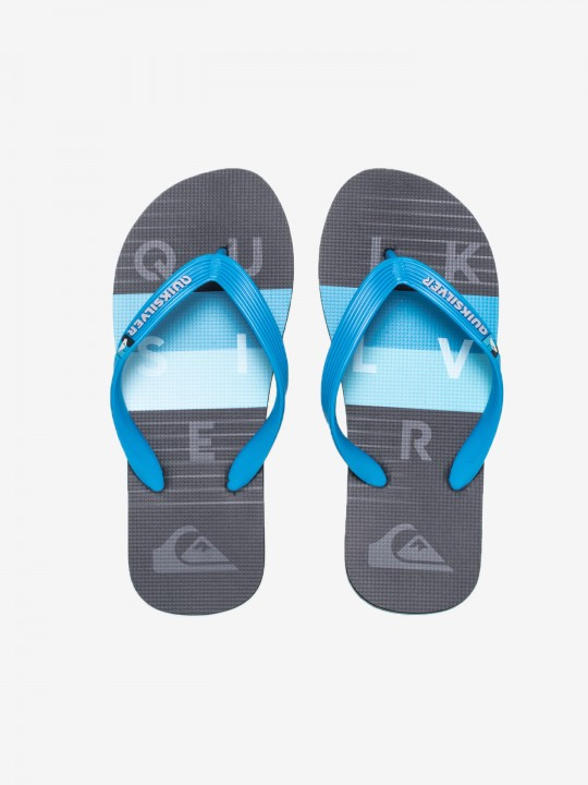 Quiksilver Molokai Word Block Youth Flip Flops