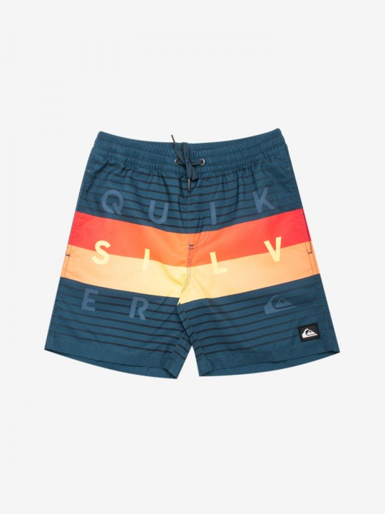 Calções Quiksilver Word Block Volley Youth