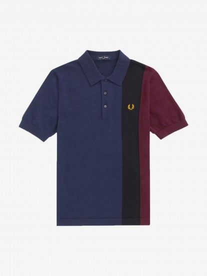 Fred Perry Side Panel Knitted Polo