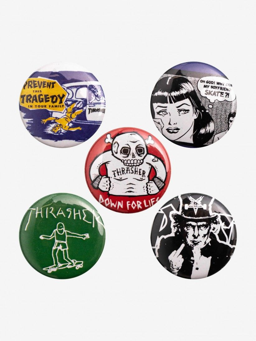 PINS THRASHER USUAL SUSPECTS BUTTONS (PACK 5)