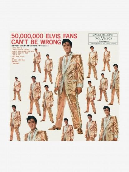 Disco de Vinilo Elvis Presley - 50,000,000 Elvis Fans Can't Be Wrong