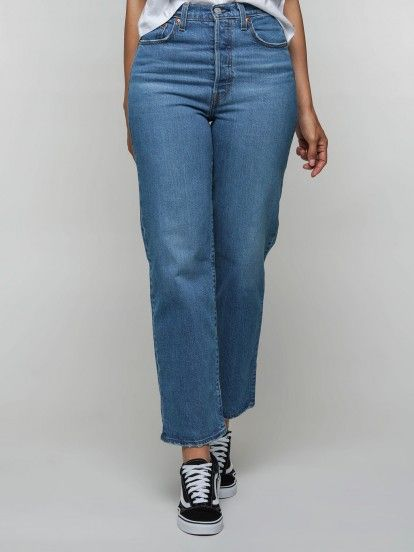 Levis Ribcage Straight Trousers
